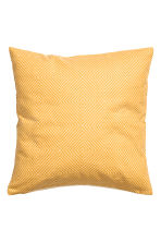 Slub-weave cushion cover - Mustard yellow - Home All | H&M CN 2