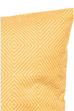 Slub-weave cushion cover - Mustard yellow - Home All | H&M CN 3