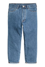 Straight Regular Cropped Jeans - 牛仔蓝 - Men | H&M CN 2