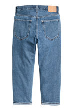 Straight Regular Cropped Jeans - 牛仔蓝 - Men | H&M CN 3