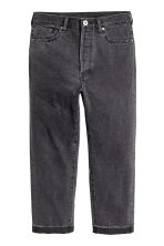 Straight Regular Cropped Jeans - Dark grey denim - Men | H&M 2