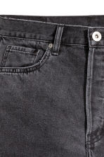 Straight Regular Cropped Jeans - Dark grey denim - Men | H&M 4
