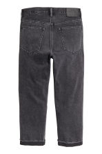 Straight Regular Cropped Jeans - Dark grey denim - Men | H&M CA 3