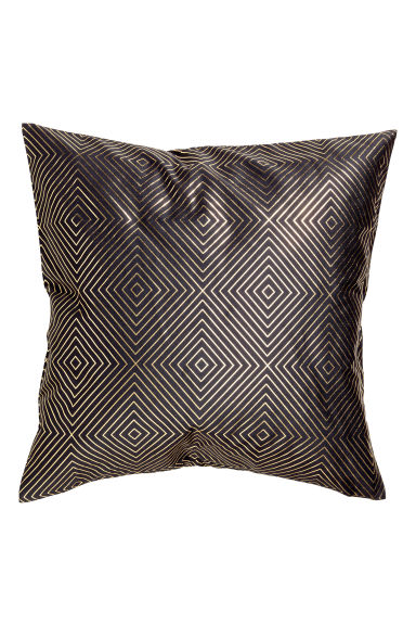Patterned cushion cover - Anthracite grey/Gold - Home All | H&M CN 1