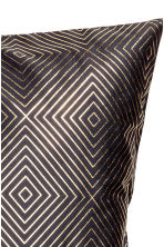 Patterned cushion cover - Anthracite grey/Gold - Home All | H&M CN 2