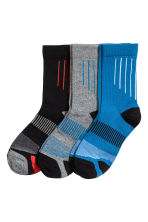 3-pack sports socks - Blue - Kids | H&M 1