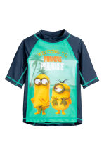 T-shirt with UPF 50 - Mint green/Minions  - Kids | H&M CN 1