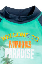 T-shirt with UPF 50 - Mint green/Minions  - Kids | H&M CN 2