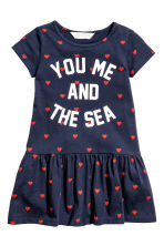Jersey dress - Dark blue/Heart - Kids | H&M 2