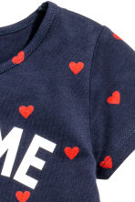 Jersey dress - Dark blue/Heart - Kids | H&M CN 3