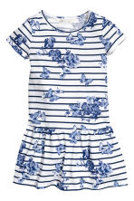 Jersey dress - White/Dark blue/Striped - Kids | H&M 2