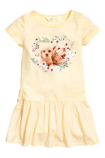 Jersey dress - Light yellow/Dogs - Kids | H&M 2