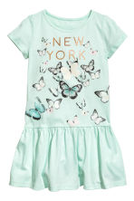 Jersey dress - Mint green/Butterflies - Kids | H&M CA 2