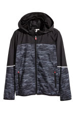 Windproof jacket - Black marl - Kids | H&M CN 2