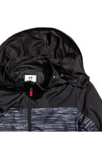 Windproof jacket - Black marl - Kids | H&M CN 3