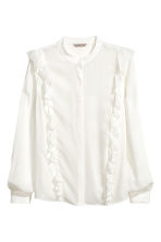 H&M+ Frilled blouse - White -  | H&M 2