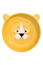Animal-motif deep plate - Yellow/Lion - Home All | H&M CN 2