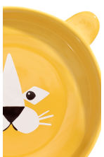Animal-motif deep plate - Yellow/Lion - Home All | H&M CN 3