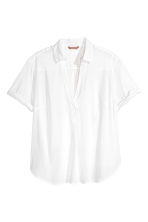 H&M+ V-neck blouse - White -  | H&M 1