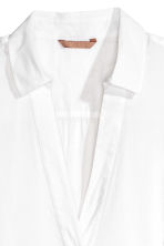 H&M+ V-neck blouse - White -  | H&M 2