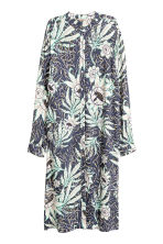 H&M+ Patterned shirt dress - Grey/Floral - Ladies | H&M CN 1