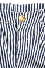 Cotton shorts - Dark blue/Striped - Kids | H&M 3
