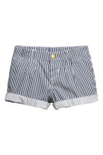 Cotton shorts - Dark blue/Striped - Kids | H&M 2