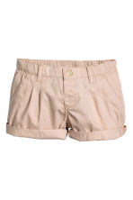 Cotton shorts - Light beige - Kids | H&M 2
