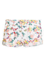 Cotton shorts - White/Patterned - Kids | H&M CN 2