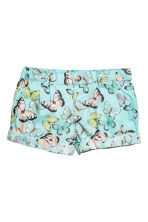 Cotton shorts - Light turquoise/Butterflies - Kids | H&M 2