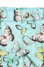 Cotton shorts - Light turquoise/Butterflies - Kids | H&M 3