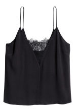 H&M+ Strappy top with lace - Black -  | H&M 2