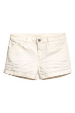 Twill shorts - Natural white - Ladies | H&M GB 2