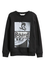 Printed sweatshirt - Black/Skateboard - Kids | H&M 2