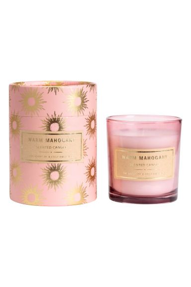 Bougie parfumée - Rose clair/Mahogany - Home All | H&M FR 1