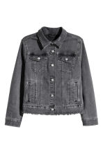 H&M+ Denim jacket - Black denim - Ladies | H&M 1