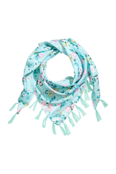 Patterned triangular scarf - null -  | H&M CN 1