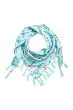 Patterned triangular scarf - Mint green/Butterflies - Kids | H&M CN 1