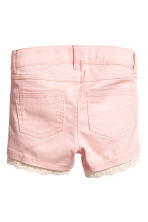 Twill shorts with lace - Light pink - Kids | H&M 2