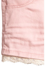Twill shorts with lace - Light pink - Kids | H&M 4