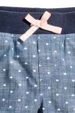 3/4-length pull-on trousers - Denim blue/Hearts - Kids | H&M CN 3