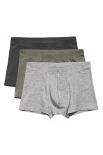 3-pack boxer shorts - Dark khaki green - Men | H&M 2