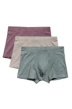 3件入四角褲 - Grey/Purple - Men | H&M 2