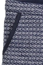 Textured-weave shorts - Dark blue - Kids | H&M 3