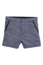 Textured-weave shorts - Dark blue - Kids | H&M CN 2