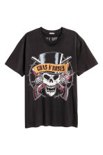 T-shirt with a print motif - Black/Guns N' Roses -  | H&M 2