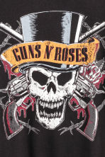T-shirt with a print motif - Black/Guns N' Roses -  | H&M 3