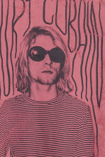 T-shirt with a print motif - Pale red/Kurt Cobain - Men | H&M 3
