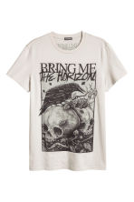 T-shirt with a print motif - Beige/Bring Me the Horizon - Men | H&M 2