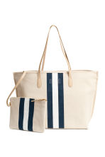 Shopper with a pouch - Light beige - Ladies | H&M 1